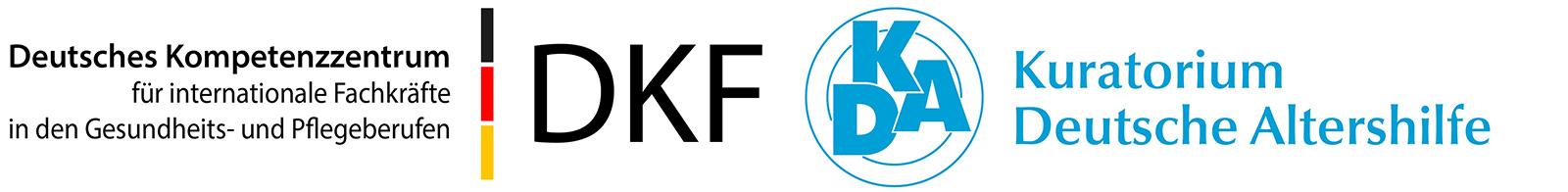 Deutsches Kompetenzzentrum für internationale Fachkräfte in den Gesundheits- und Pflegeberufen (DKF) unter Trägerschaft des Kuratorium Deutsche Altershilfe (KDA) Logo