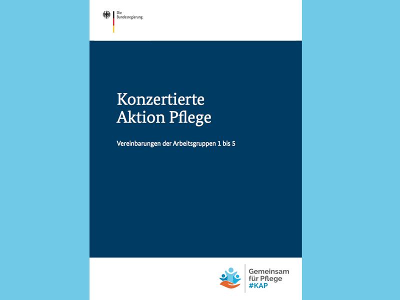 Titel der Broschüre der Konzertierten Aktion Pflege